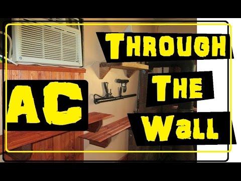 Sleeving an AC unit through a wall
