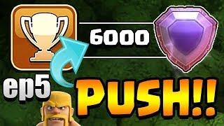 MOST EPIC EVER!  TH11 Trophy Push to Top 200 ep5   Clash of Clans