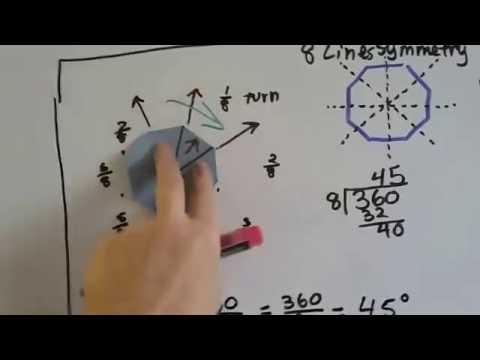 Grade 6 Math #11.9, Line and Rotational Symmetry
