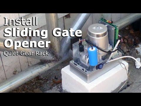 Install ALEKO AR1450 sliding gate opener with gear rack