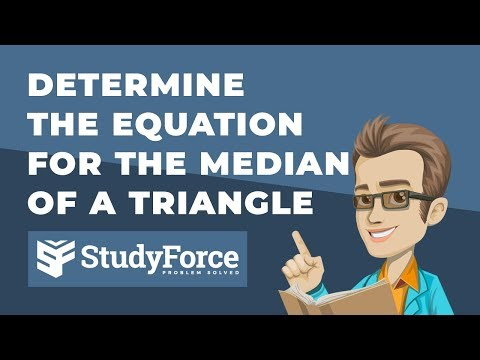 📚 How to find the median of a triangle