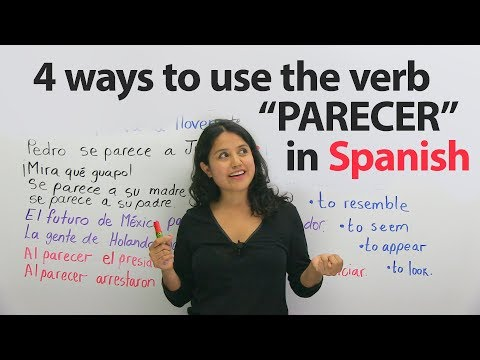 Learn Spanish Verbs: PARECER – to look like, to seem, to resemble, and more