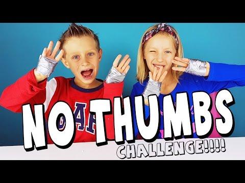 NO THUMBS Challenge / RonaldOMG and GamerGirl