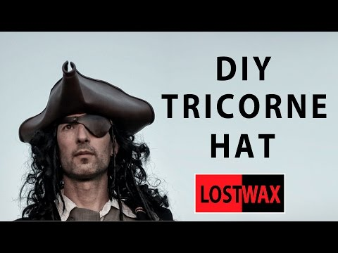 How to make a tricorn pirate hat from foam. DIY Jack Sparrow.