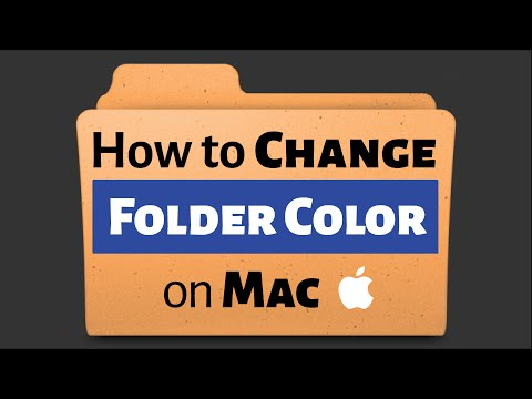 How to Change the Color of a Folder on Mac (2016)