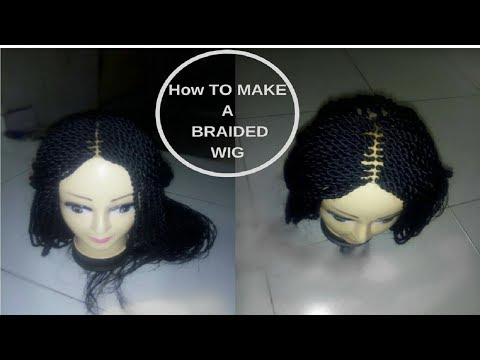 How To Make a Braided Wig (Beginner Friendly) | How To Make A Braided Twist Wig | GoldQueen Queency