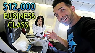 WE SNEAKED INTO BUSINESS CLASS ($12,000 Seats!!)