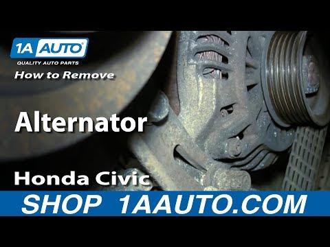 How to Remove Install Alternator 2001-05 Honda Civic