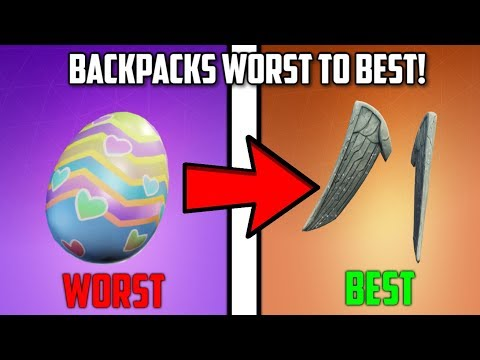 EVERY BACK BLING RANKED WORST TO BEST IN FORTNITE: BATTLE ROYALE!!