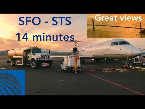 Shortest Commercial Flight In The US! | Flight Report #7: San Francisco - Santa Rosa CRJ200