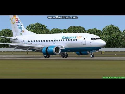 Bahamasair B737 Nassau Lynden Pindling International Airport MYNN Landing FS9