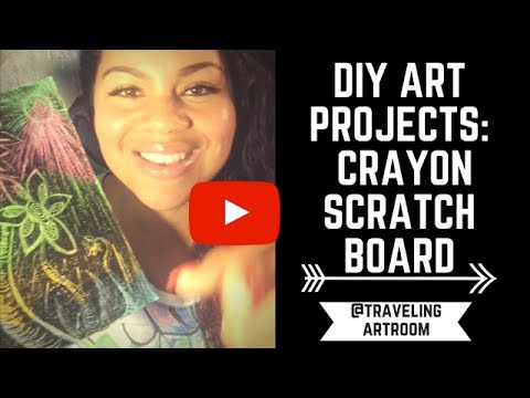 ART FOR KIDS :  HOW TO MAKE A CRAYON SCRATCH BOARD
