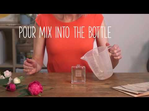 Craft Corner: How to make a faux flower perfume bottle display
