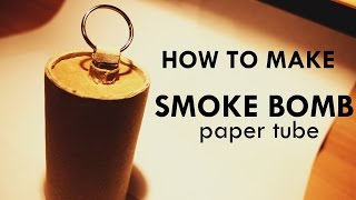 HOW TO make SMOKE BOMB paper tube with PULL RING ignitor