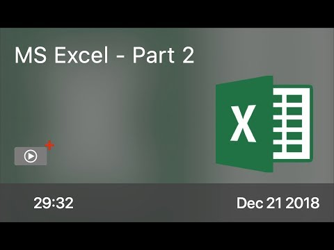SCOM0797 - MS Excel - Part 2