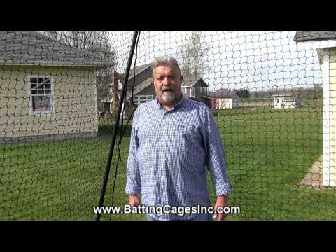 Economy Model High Quality Baseball And Softball Batting Cage From Batting Cages Inc.