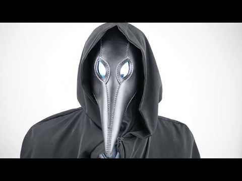 Alien Mask Black Leather