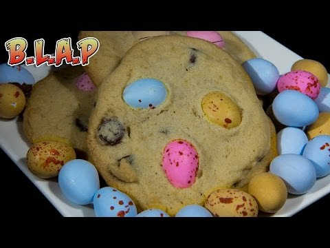 Cadbury Mini Egg Cookies Recipe - Easter egg chocolate chip cookies