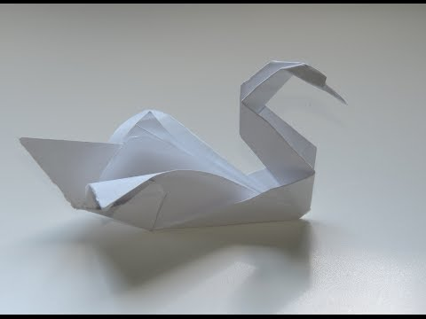 Origami Swan Easy Instructions. (Full HD)