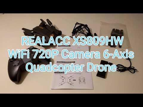 REALACC XS809HW Quadcopter Drone Wifi FPV 2.4G 4CH 6 Axis