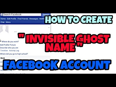 How to create '' Invisible Ghost Name