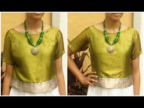 Short Designer Kurti For Lehnga Or Skirt   DIY Kurti