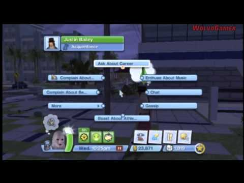 The Sims 3 Wii Gameplay | Town | Shops | Jobs | etc
