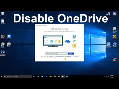 Disable oneDrive Windows 10 - How to stop oneDrive PoPup