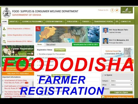Farmer Registration Status & Report Check Online Easily .  Android Phone,PC  Food Odisha