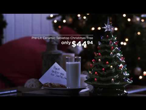 Best Choice Products' Pre-Lit Ceramic Tabletop Christmas Tree
