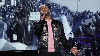 John Legend Performs His Song