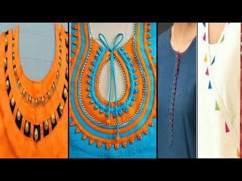 LATEST SUIT NECK DESIGN//COTTON LAWN NECK SUIT DESIGN//NEW STYLE NECK KURTA//HOMEMADE STYLISH SUIT