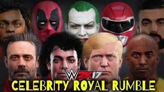WWE 2K17 - 30 MAN CELEBRITY ROYAL RUMBLE!!!