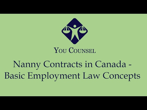 Nanny Contracts in Canada: Basic Employment Law Concepts