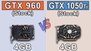 GTX 960 (4GB) vs GTX 1050 Ti (4GB) | Core i3-8100 | New Games Benchmarks