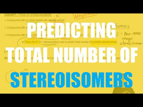 How to predict the total number of stereoisomers