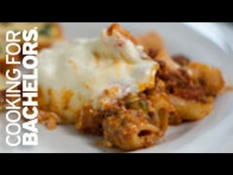 Baked Ziti with Bolognese Sauce by Cooking for Bachelors® TV