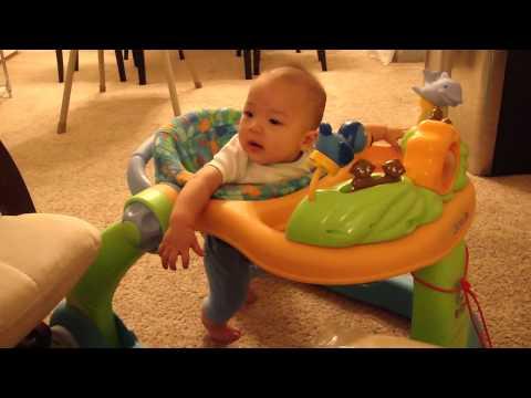 5 month old in walker