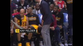 LeBron James bounces rookie Kay Felder for Kevin Love
