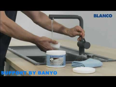 How to clean a blanco ceramic sink