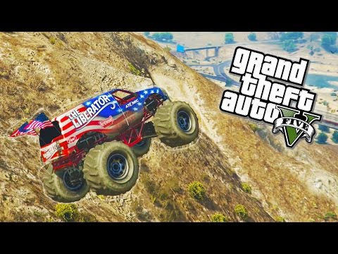 GTA 5 - Liberator Monster Truck Location in Single Player! (GTA V)