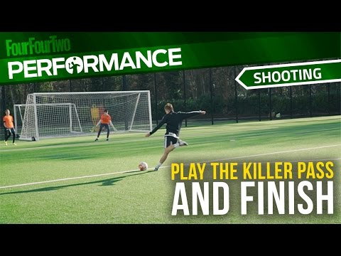 Soccer shooting exercise   Play the killer pass and finish drill   Swansea City Academy