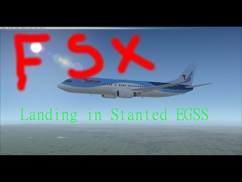 FSX| Thomson landing in London Stansted EGSS