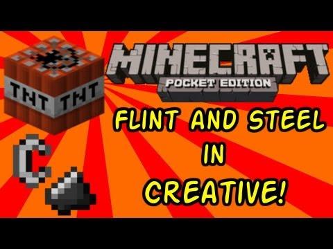 Minecraft PE Ignite TNT w/Flint and Steel in Creative Mod for 0.4.0 rev 2