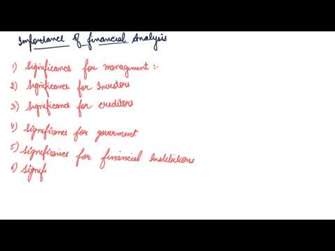 Importance of Financial Analysis | Class 12 Accountancy Analysis of Financial Statements