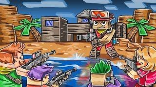Minecraft Fortnite - SNEAK ATTACK ON ISLAND HOUSE! (Battle Royale Mods)