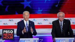Download On the 2020 campaign trail, Biden and Sanders clash over health care plans Video