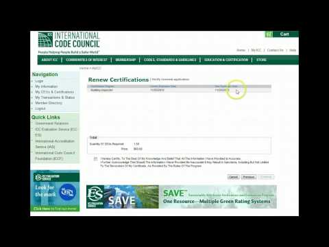ICC - Renewing Certification