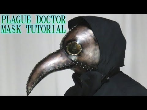 Plague doctor mask tutorial - with free template [How to make props]