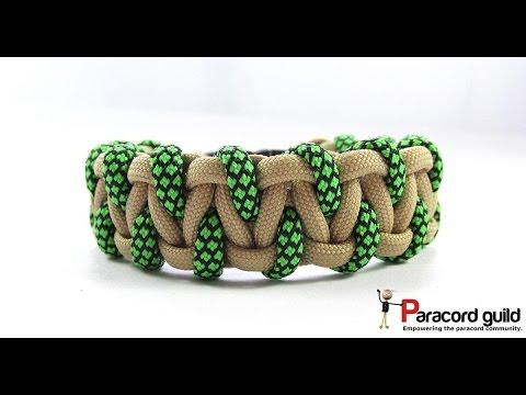 Caged solomon bar paracord bracelet
